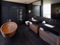 Черная ванная комната – грамотно дозируем цвет