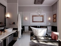 Дизайнерское оформление ванной комнаты