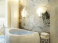 Панно в ванной из плитки