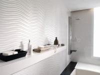 Белая плитка для ванной комнаты