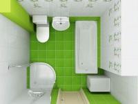 Проект небольшой ванной комнаты