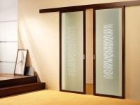 Раздвижные двери в ванной комнате
