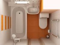 Стандартный ремонт в ванной комнате в хрущевке