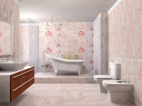 Розовая ванная комната – атмосфера нежности и романтичности