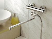 Смеситель для ванной с длиным изливом