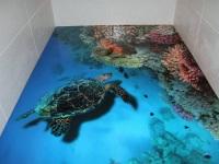 Наливные полы в ванной комнате