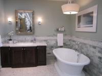 Красивая ванная в сером цвете