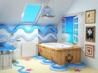 Ванная комната в морском стиле – ощущение отдыха у моря у вас дома