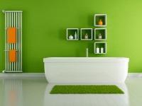 Зеленая ванная комната – весна у вас дома