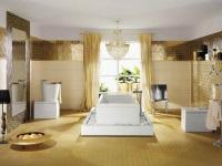 Золотая ванная комната – роскошь и неординарный дизайн