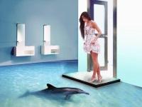 Наливные полы для ванной комнаты