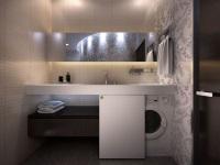 Встраиваемая мебель в ванной для стиральной машины