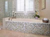 Экран под ванну из керамической плитки