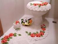 Коврики, вязаные крючком, в ванную и туалет