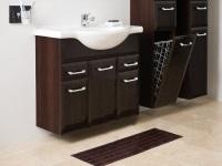 Пенал для ванной комнаты с корзиной для белья