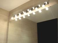Светильники для зеркала в ванной комнате