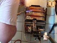 Как запаять газовую колонку?
