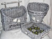 Корзина для белья из газетных трубочек