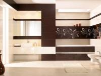Отделка ванной комнаты плиткой – 112 фото