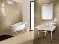 Плитка в интерьере ванной комнаты (80 фото)