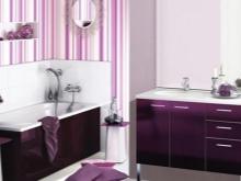 Фиолетовая ванная разных тонов