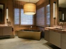 Полностью коричневая ванная