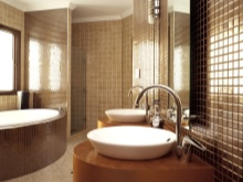 Медовый оттенко коричневого в ванной