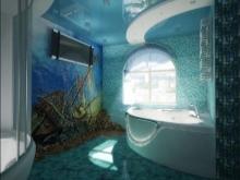Ванная комната с гидромассажной ванной