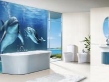 Дельфины в синей ванной комнате