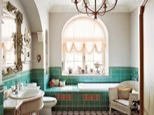 Бежевая ванная с бирюзой