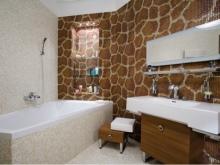 Вариант дизайна ванной комнате в панельных домах