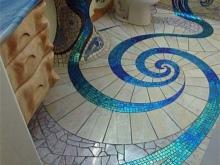 Интересные узоры ванной в морском стиле