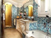 Мебель и морской стиль ванной комнаты