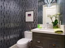 Оформление обоями ванную комнату в стиле арт-деко