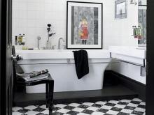 Аксессуары в ванной комнате в стиле арт-деко