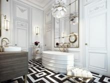 Особенности стиля арт-деко в ванной