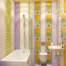 Желто-сиреневая ванная