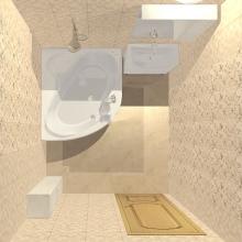 Ванная комната 5 кв м с угловой ванной