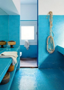 Мозаика для ванной выполненной в морской теме