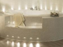 Зонирование - ванна на подиуме