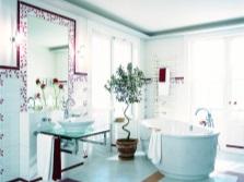Зонирование  ванной и душа - кафельная плитка