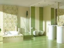 Оливковая ванная комната