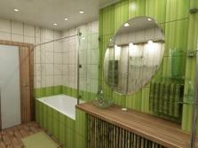 Ванная - зеленые тропики