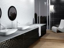 Черно-белая ваннаяч