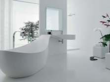 Белая ванна необычной формы