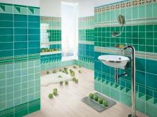Зелено-бирюзовая ванная