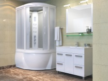 Душевая кабина - душевой бокс в ванной 4 кв м