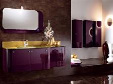 Ванная черный с фиолетовым, коричневый