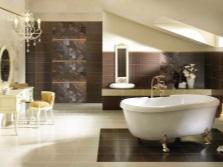 Коричневая ванная комната небольшая