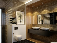 Ванная коричневых оттенков